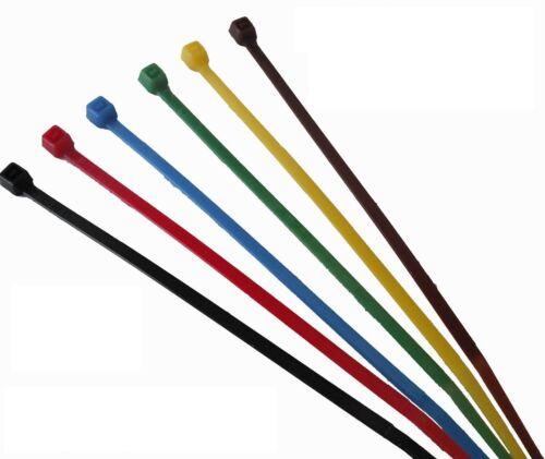 600 colorati Fascette 2,5 mm di larghezza x 100mm lunga-sei colori-spedizione gratuita