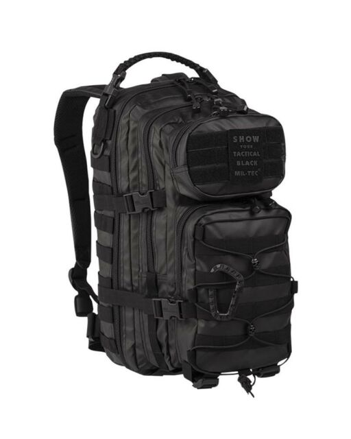 US Assault Pack small Tactical black, Rucksack, Outdoor, Military, Camping -NEU-