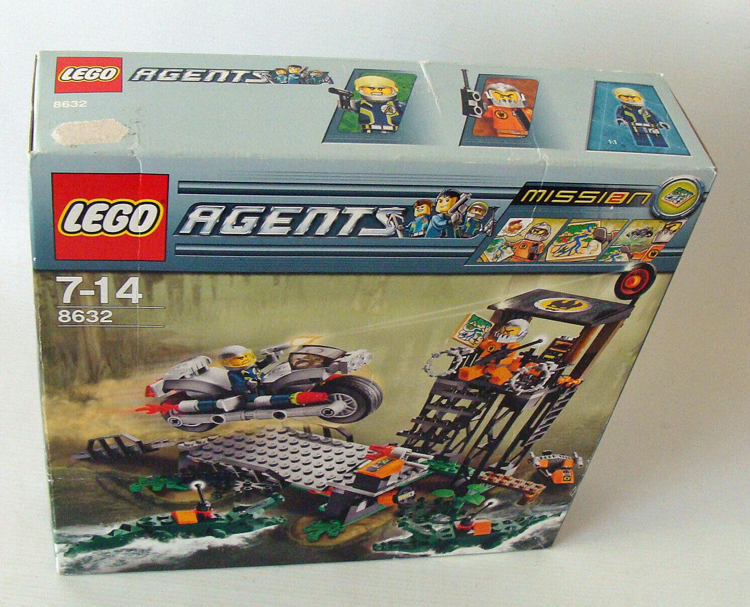 Lego® Agents Agents Agents 8632 Mission 2 - Jagd im Sumpf 7-14 Jahren 231 Teile Neu New 563185