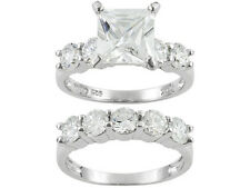 Bella Luce (R) Wedding /Engagement Set Ring W/7.43ctw CZ in 925 Sterling silver