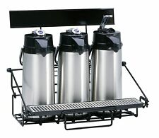 New Wilbur Curtis 3 Position Wire Airport Coffee Rack With Drip Tray Wr3b0000