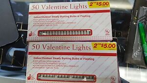 2-SETS-50-VALENTINE-LIGHTS-UNTESTED-FOR-PARTS-NOT-WORKING