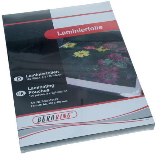 1000 Laminierfolien  DIN A4 125 Mic 1A Markenware