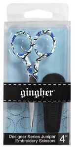 Gingher 4 Inch Designer Series Embroidery Scissors Juniper