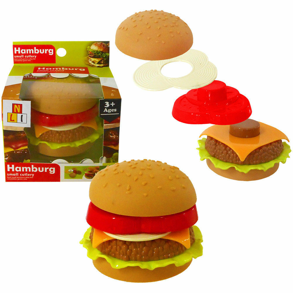 Build your own Hamburger Educational Roll Play Toy Party Bag Game