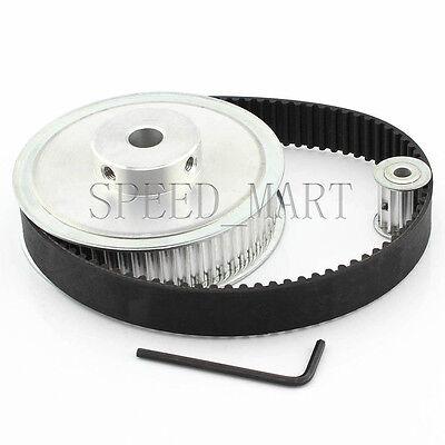 5M HTD5M 80T 20T Belt Width 15mm Timing Pulley Belt set kit Reduction Ratio 4:1