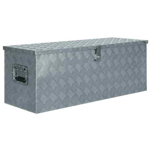 Coffre a outils aluminium boîte caisse de transport valise porte-outils remorque