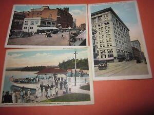 3-Vintage-Unused-Postcard-Webster-Mass-Themed-5