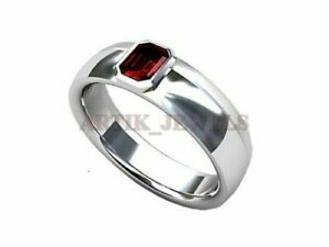 American Seller RJ-692 Garnet Gemstone Natural Garnet Ring 925 Sterling Silver Ring Free Shipping