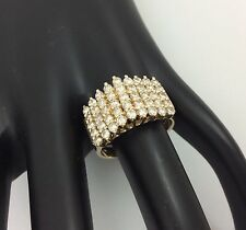 5 ROW DIAMOND CLUSTER RING SIZE 7