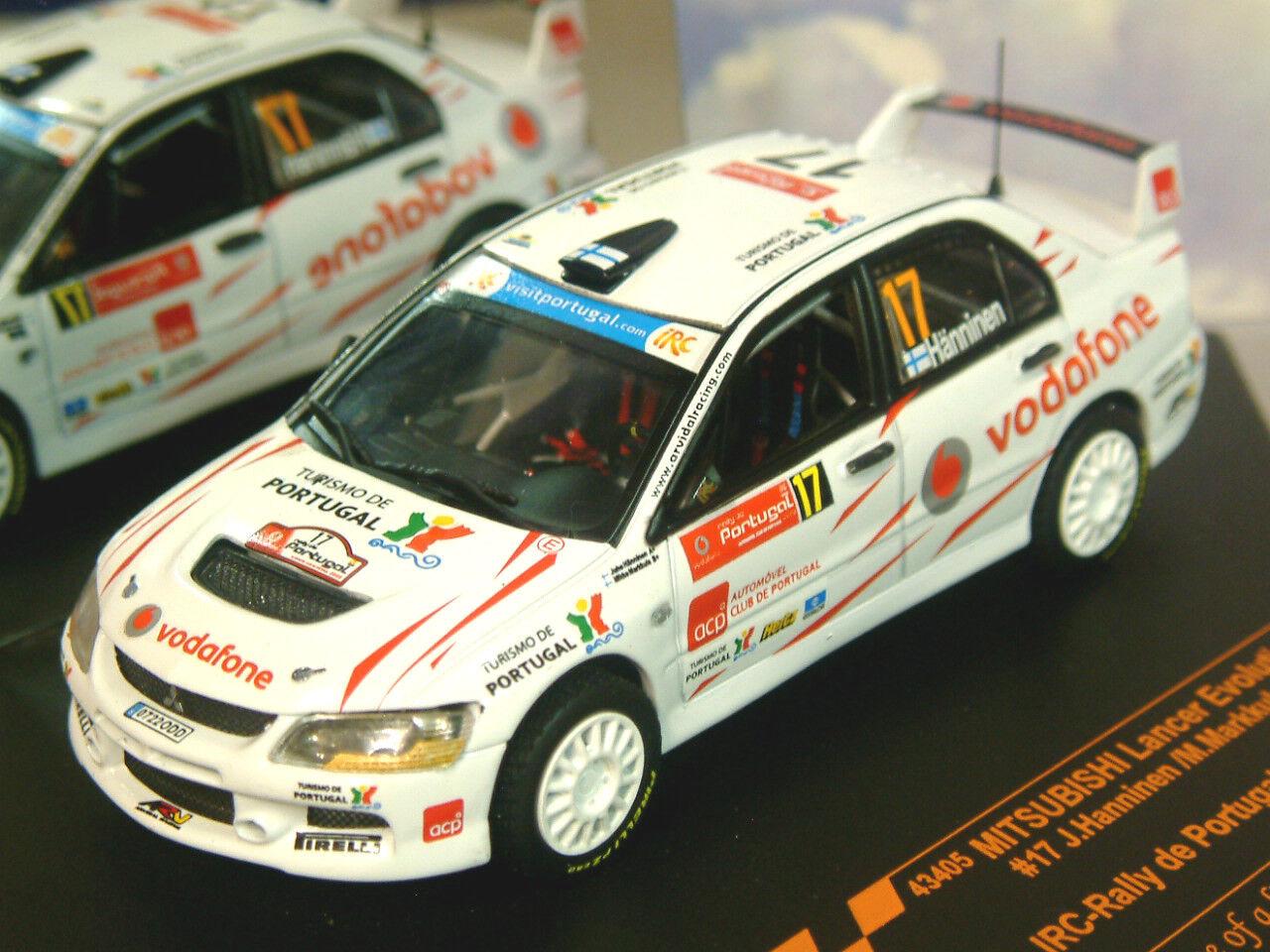 VITESSE 1 43 MITSUBISHI LANCER EVO évolution IX  17 IRC Rally de Portugal 2008