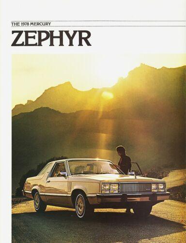 1978 Mercury Zephyr Z-7 Sedans Wagon Dealer Sales Brochure