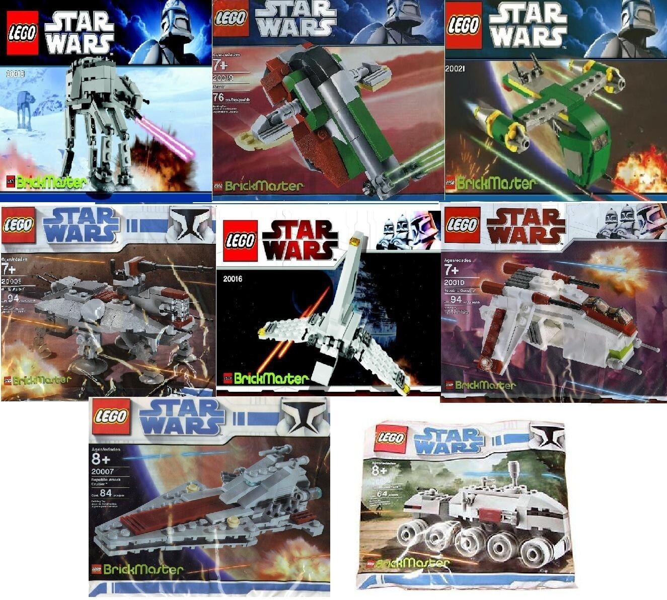Lego Star Wars brickmaster todos 20006 20007 20009 20010 20016 20018 20019 20021