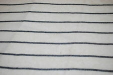 Hemp knit striped yarn dyed fabric Lt weight sweater weave Black/Natural