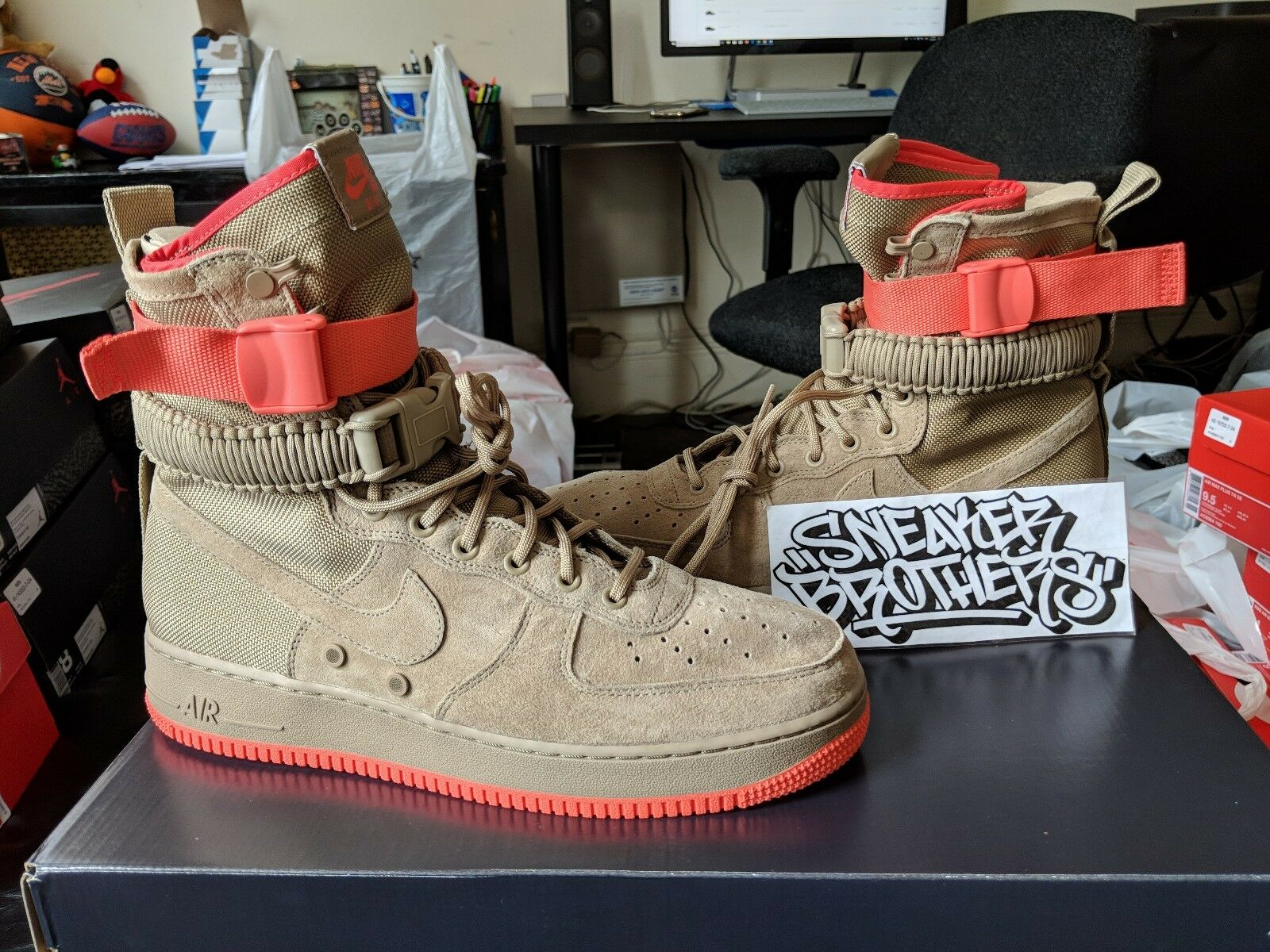 Nike SF AF1 Special Forces Field Air Force 1 One Khaki Rush Coral Tan 864024-205