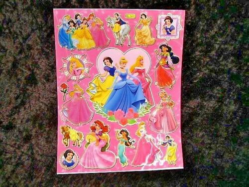 Bolsas De Fiesta Media Princesas de Disney de 5 X A4 hojas de brillante hoja de pegatinas 459