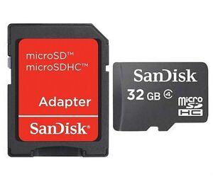 SanDisk-32GB-microSD-32G-microSDHC-C4-micro-SD-SDHC-Flash-Card-Bulk-RED-Adapter