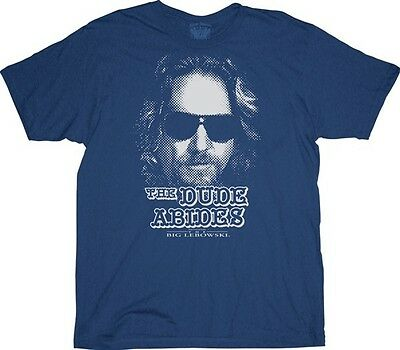 The Big Lebowski Dude Abides Funny Movie Cotton Adult T Shirt