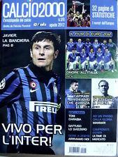 Calcio2000 n°176 2012 - Javier Zanetti la bandira dell'Inter [GS35]