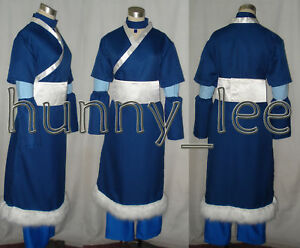Details about Avatar The Last Airbender Katara Cosplay Costume blue