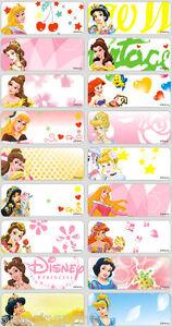 180093b2e296 Details about 36 Disney Princess Personalised name Label Sticker School  book vinyl waterproof