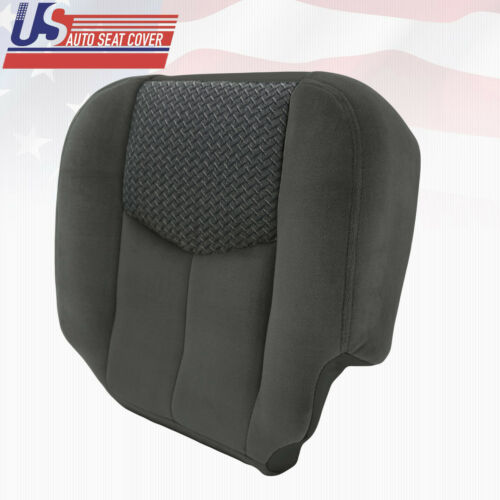 2003 to 2004 Chevy Avalanche 1500 /& 2500 Driver Bottom Cloth Seat Cover Drk Gray