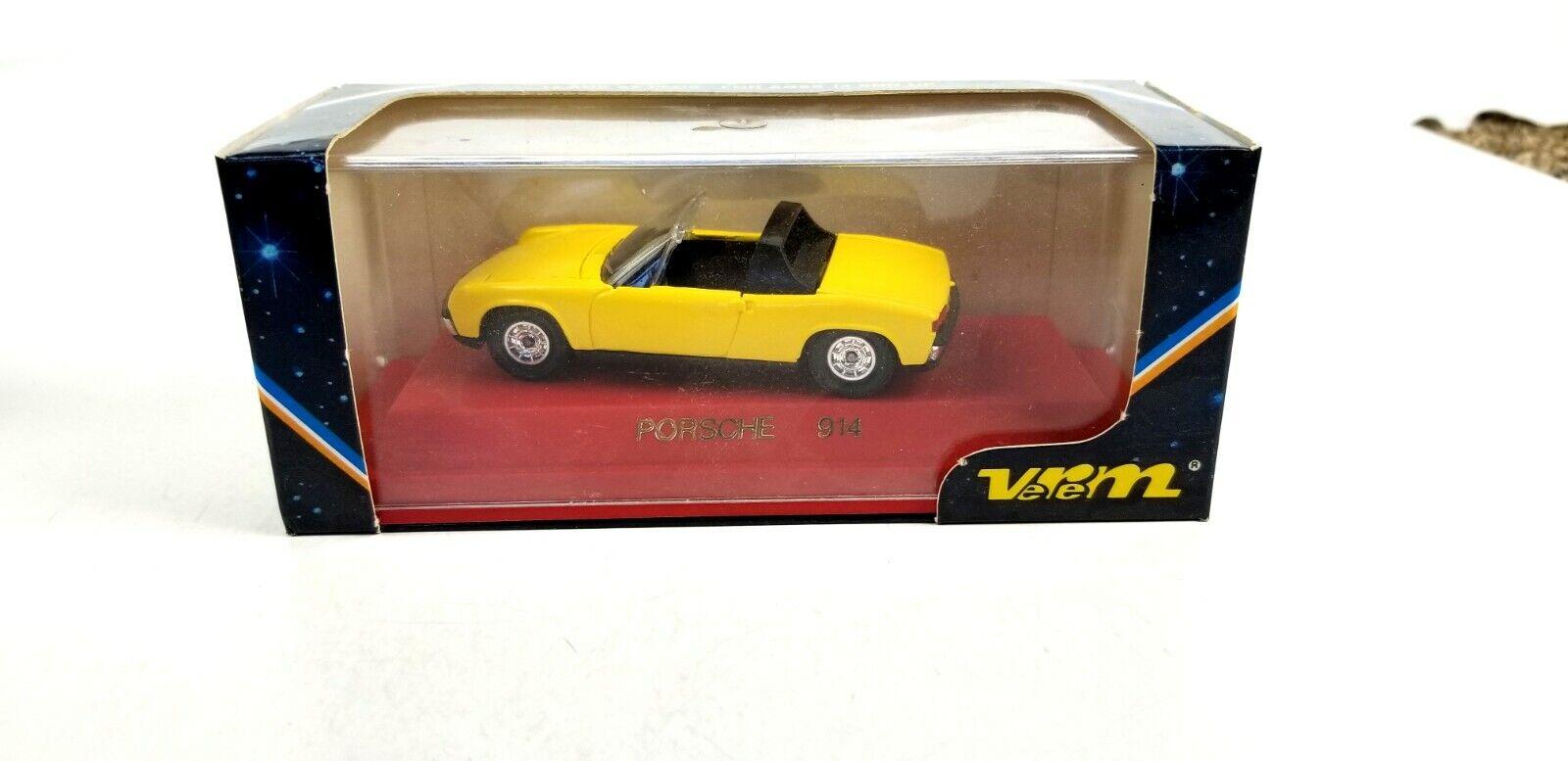 Verem Porsche 914 giallo 1 43 o escala Diecast descapotable modelo de coche réplica
