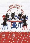Scottie Dogs' Party Greeting Card 6 Cards Individually Bagged With Envelopes an
