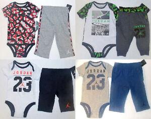 cdffea4eef3 Air Jordan Infant Boys 2pc Bodysuit and Pants Sets 4 Various Choices ...