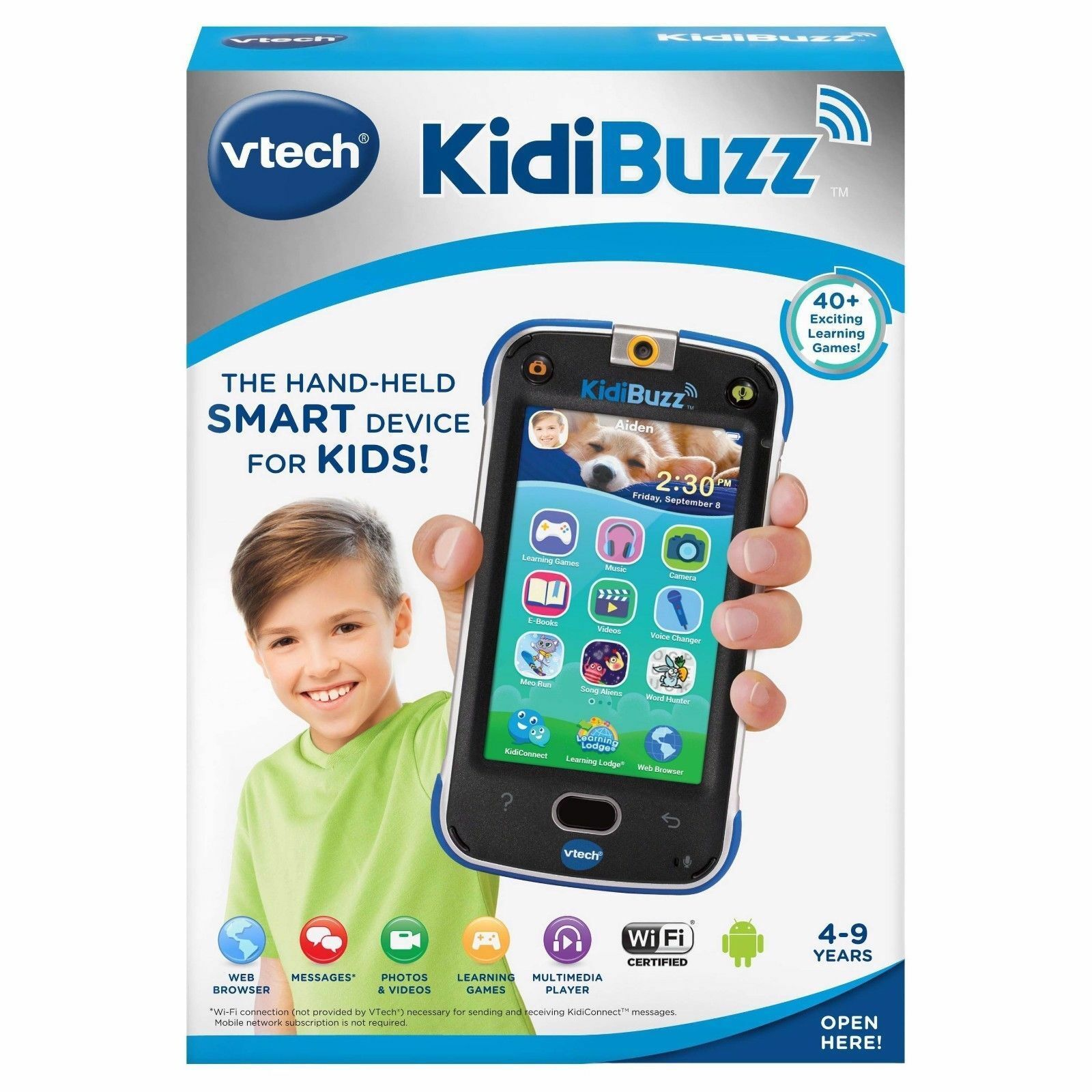 VTech KidiBuzz Hand-Held Smart Device blueE  Real Phone For Kids