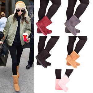 Femme Bottes D'hiver Neige Chaud Fourrure Confortable Décontracté Mi-mollet Chaussures Taille 3-8-afficher Le Titre D'origine