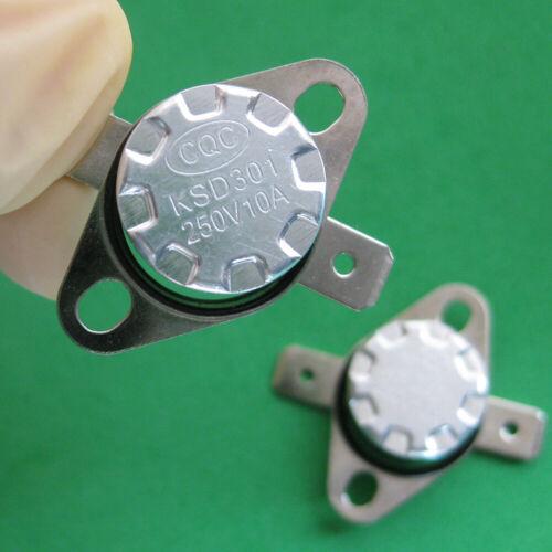 2pcs KSD301 25 ° C//77 ° F Degré Celsius N.C Température Interrupteur Thermostat