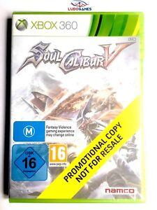 Soul-Calibur-V-5-Xbox-360-Videojuego-Neuf-Scelle-Promo-Produit-Nouveau-Eur