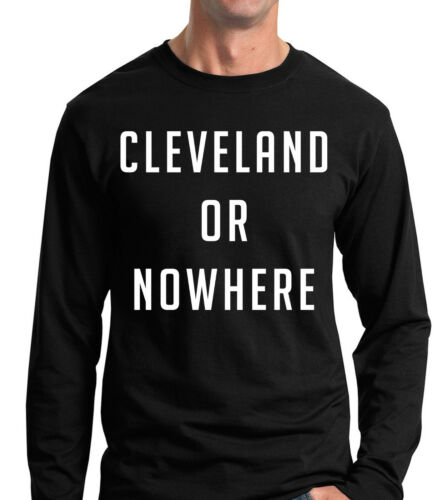 Lebron James Cleveland or Nowhere World Series T-shirt Indians Cavaliers Cavs