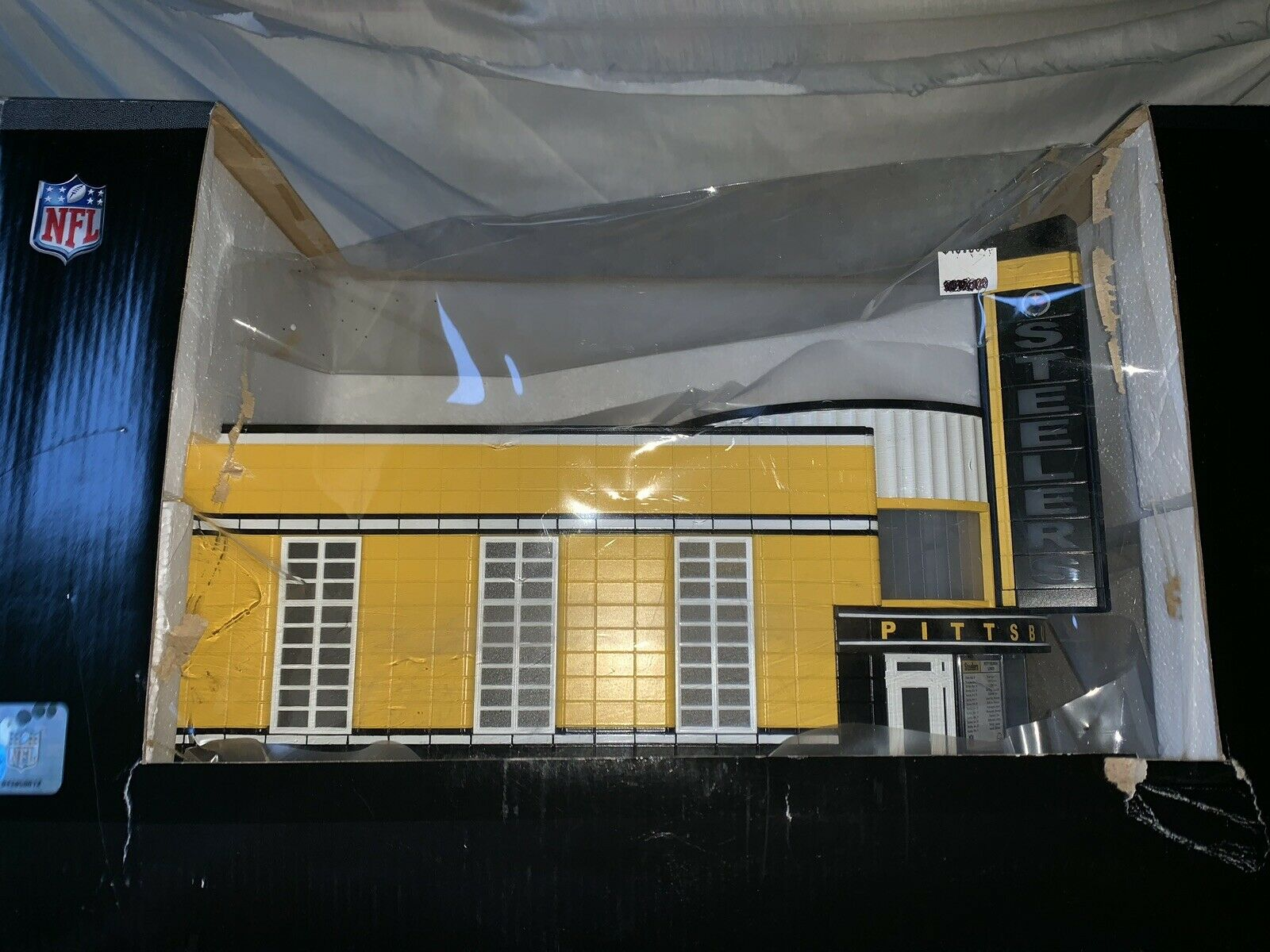 MTH RAILKING PITTSBURGH STEELERS BUS STATION ACCESSORY NEW NFL FOOTBALL BUILDING