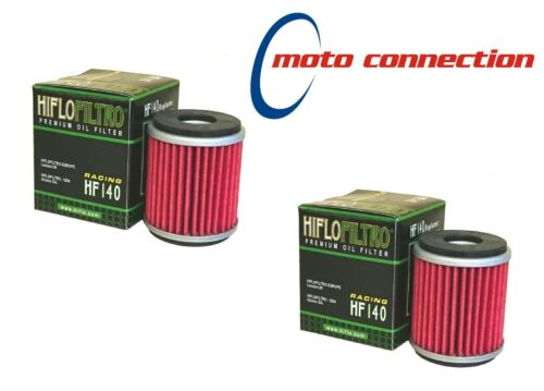 HI FLO FILTRO PREMIUM ENGINE OIL FILTERS PACK OF 2 HF140 YAMAHA YZF250 2013