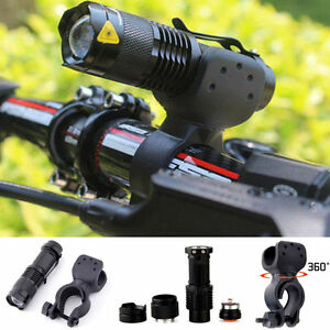 Q5 LED Flashlight Cycling Bike Torch Light Lamp 14500 with 360° Mount Holder