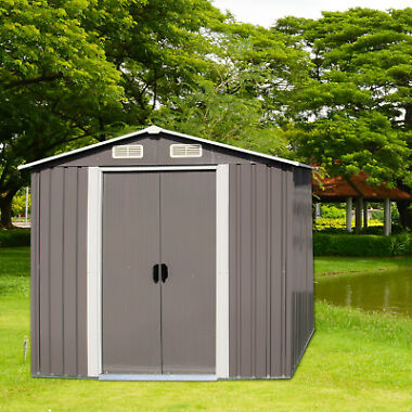 Kinbor 6&#39 x 4&#39 Outdoor Storage Shed Steel Garden Storage Utility