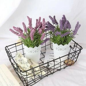Deko Lavendel Topf Kunstpflanze Kunstliche Blume Pflanze
