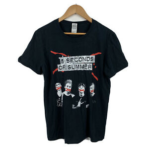 Five-Seconds-Of-Summer-2015-Tour-Shirt-Size-Medium-Short-Sleeve-Good-Condition