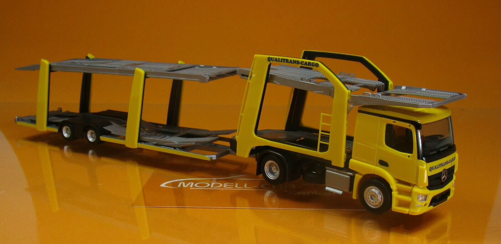 Herpa 309790 MB A Eurol. Autotransporter Qualitrans Cargo Scale 1 1 1 87  | Großer Räumungsverkauf  f35a52