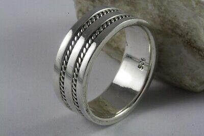 Suche Nach FlüGen Bandring Keltic Kelten Geflochten Biker 925 Echt Silber Silberring / 572 Angemessener Preis