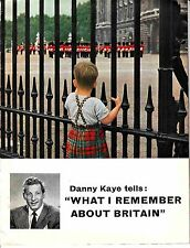 """Danny Kayte Tells """"What I Remember About Britain"""" 1956 Old Booklet"""
