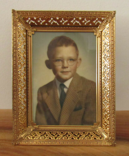 Vintage 1950s Found Tinted Photograph William Boy with Glasses & Suit