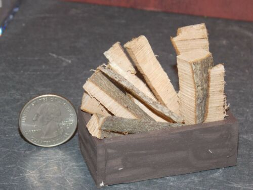 Dollhouse Miniature FireBox with Firewood 1:12 one inch scale Y38 Dollys Gallery