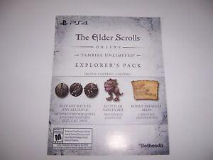 Details about The Elder Scrolls Download Code DLC for the Explorer's Pack  PS4 Playstation 4