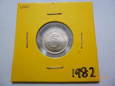 Malaysia 5 Sen 1982 - UNC/BU