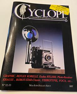 Revue Photo Photographe amateur appareils photographiques Cyclope N°32 33 1997