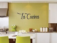 CUCINA ITALIANA Italian Kitchen Vinyl Wall Decal Graphic Lettering ...