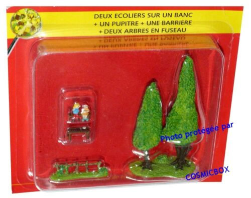 arbres Atlas PLASTOY figure Le VILLAGE d/'ASTERIX n° 40 lot figurines écoliers